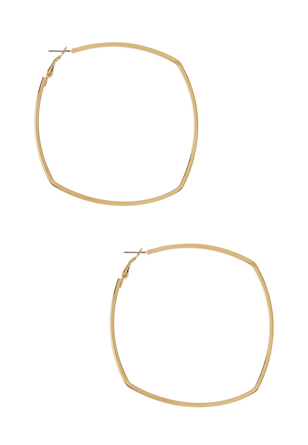 Thin Square Hoop Earrings