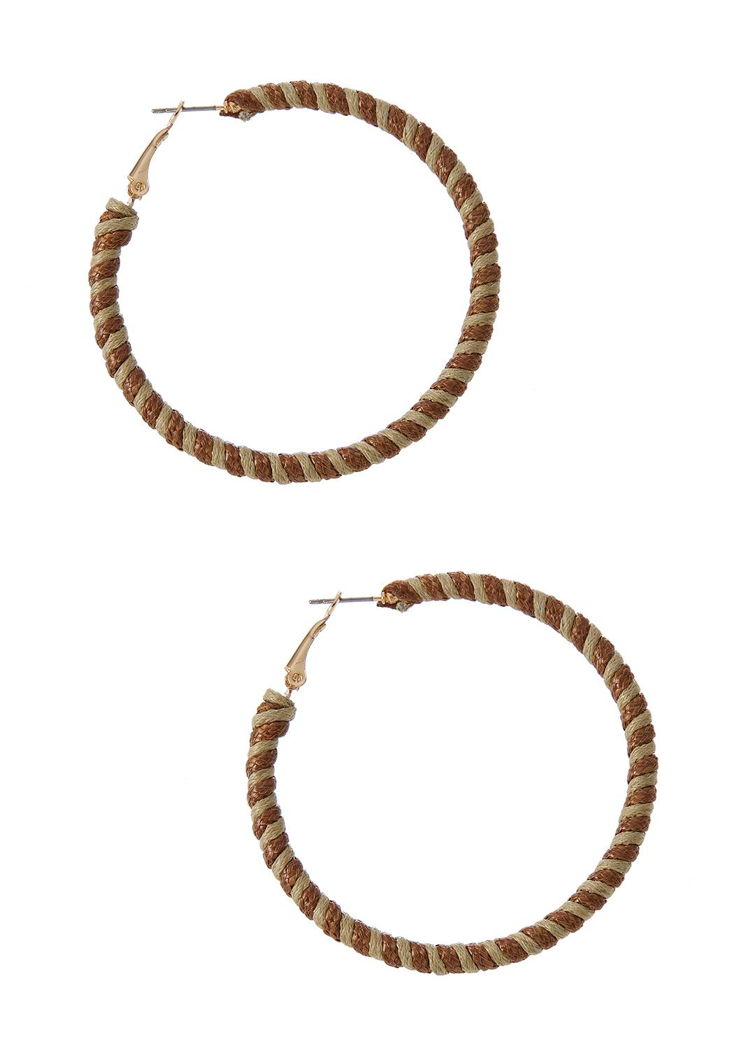 Two-Toned Twisted Hoop Earrings