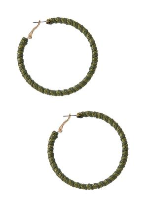 Two- Toned Twisted Hoop Earrings