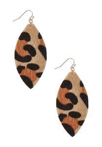 Textured Leopard Spot Earrings