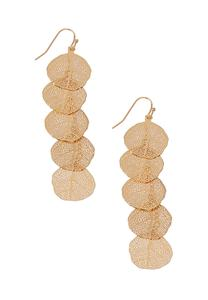 Shaky Linear Leaf Earrings