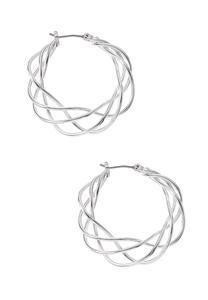 Braided Wire Hoop Earrings