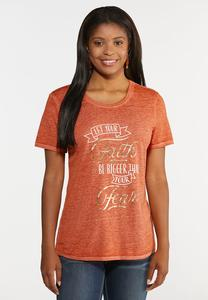 Plus Size Faith Over Fear Tee