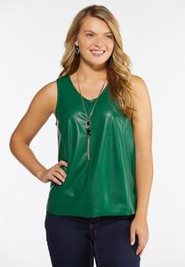 Faux Leather Tank