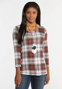 Plus Size Spice Plaid Shirt