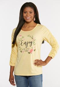 Plus Size Enjoy The Little Things Tee
