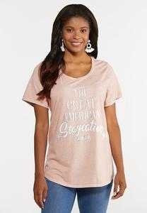 Plus Size Great American Staycation Tee