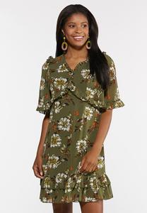 Plus Size Olive Babydoll Dress