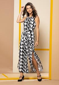 Plus Size Houndstooth Jumpsuit