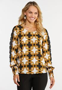 Moroccan Lace Sleeve Top