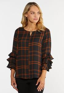 Tiered Ruffled Sleeve Top