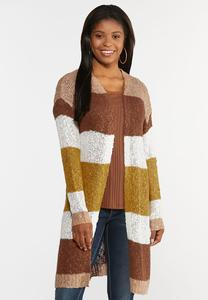 Plus Size Colorblock Cardigan