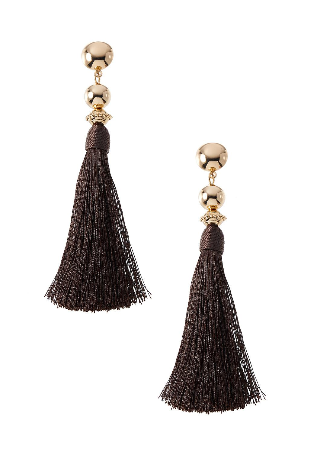 Golden Yellow Tassel Earrings