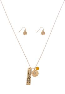 Adventure Charm Necklace Earring Set