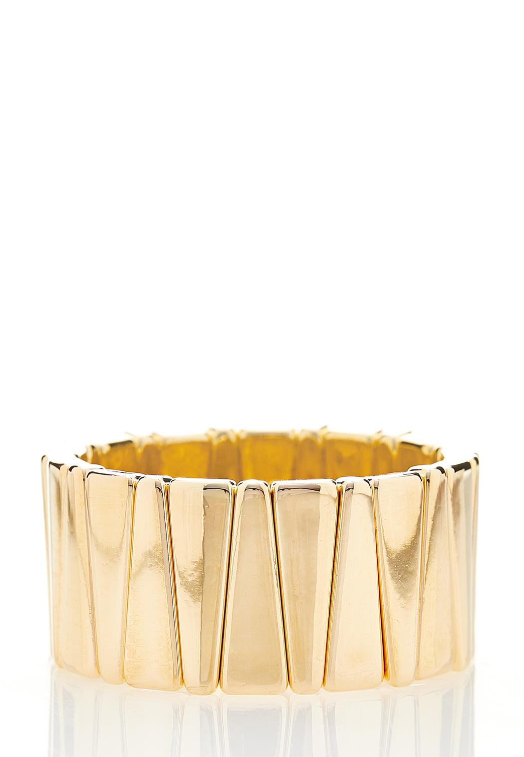 Gold Triangle Stretch Bracelet