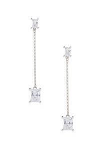 Linear Rhinestone Earrings