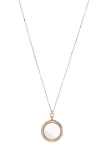 Rose Gold Locket Pendant Necklace