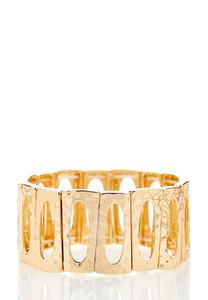 Hammered Rectangle Stretch Bracelet