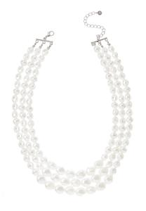 Layered Acrylic Pearl Necklace