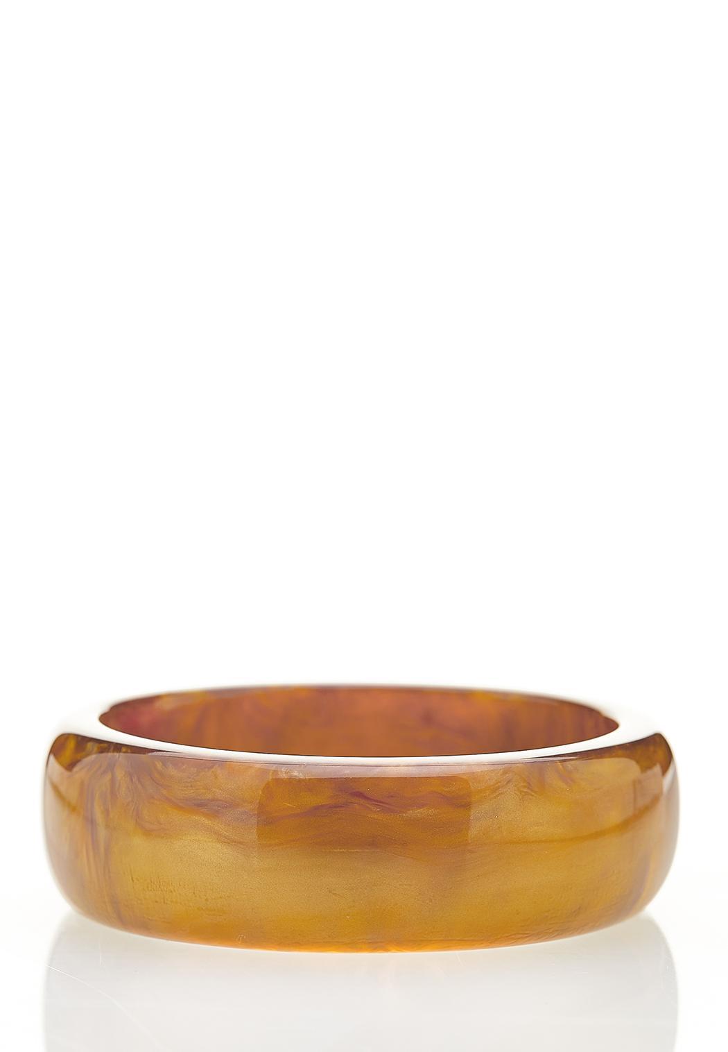XL Gold Resin Bangle Bracelet