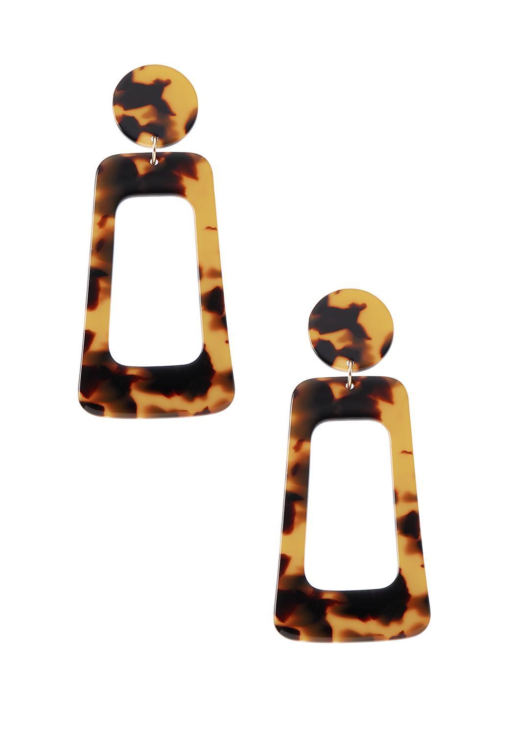 Geo Tortoiseshell Earrings