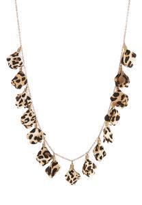 Leopard Chiffon Petal Necklace
