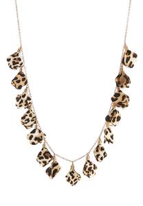 Leopard Chiffon Petal Necklace