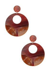 Marbled Resin Earrings