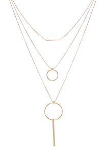 Layered Circle Bar Necklace