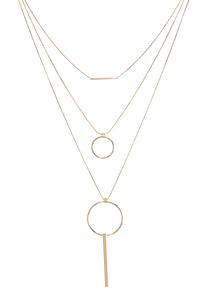 Layered Circle Bar Necklace