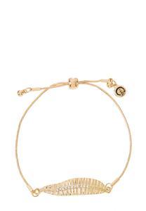 Leaf Pull-String Bracelet