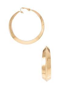 Gold Clip-On Hoop Earrings