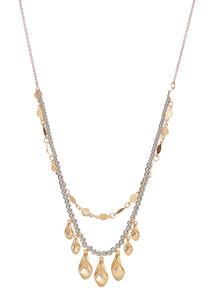 Shaky Bead Layered Chain Necklace
