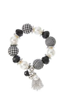 Houndstooth Mixed Bead Bracelet