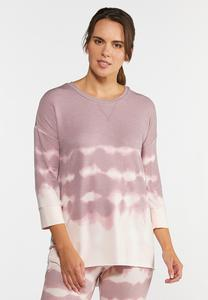 Plus Size Tie Dye Athleisure Tunic