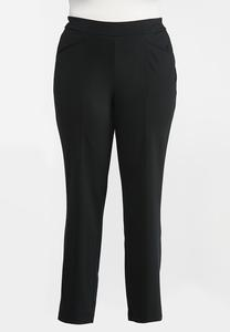 Plus Size Straight Leg Ponte Pants
