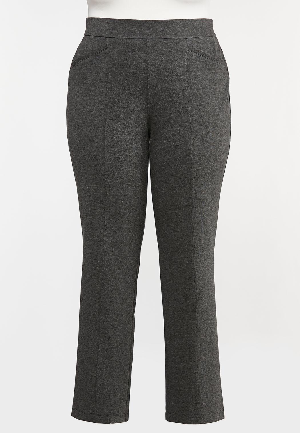 Plus Petite Straight Leg Ponte Pants