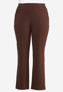 Plus Petite High-Rise Ponte Pants