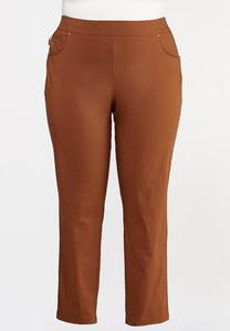 Plus Size Slim Bengaline Pants