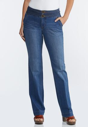 High- Rise Wide Leg Jeans
