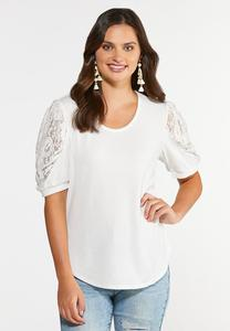 Lace Puff Sleeve Top