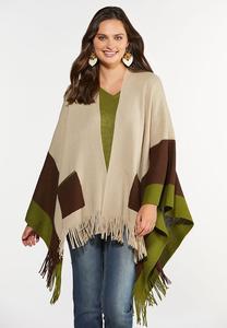 Colorblock Sweater Wrap