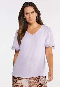Lilac Lace Trim Top