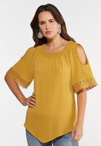 Plus Size Honey Cold Shoulder Top
