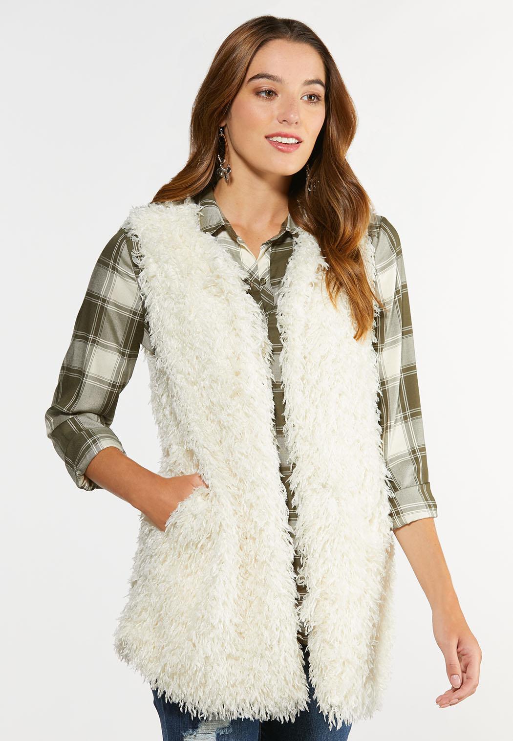 Plus Size Textured Eyelash Vest