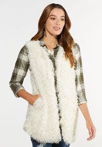 Plus Size Textured Eyelash Vest