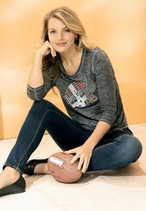 Plus Size Touchdown Plaid Helmet Tee