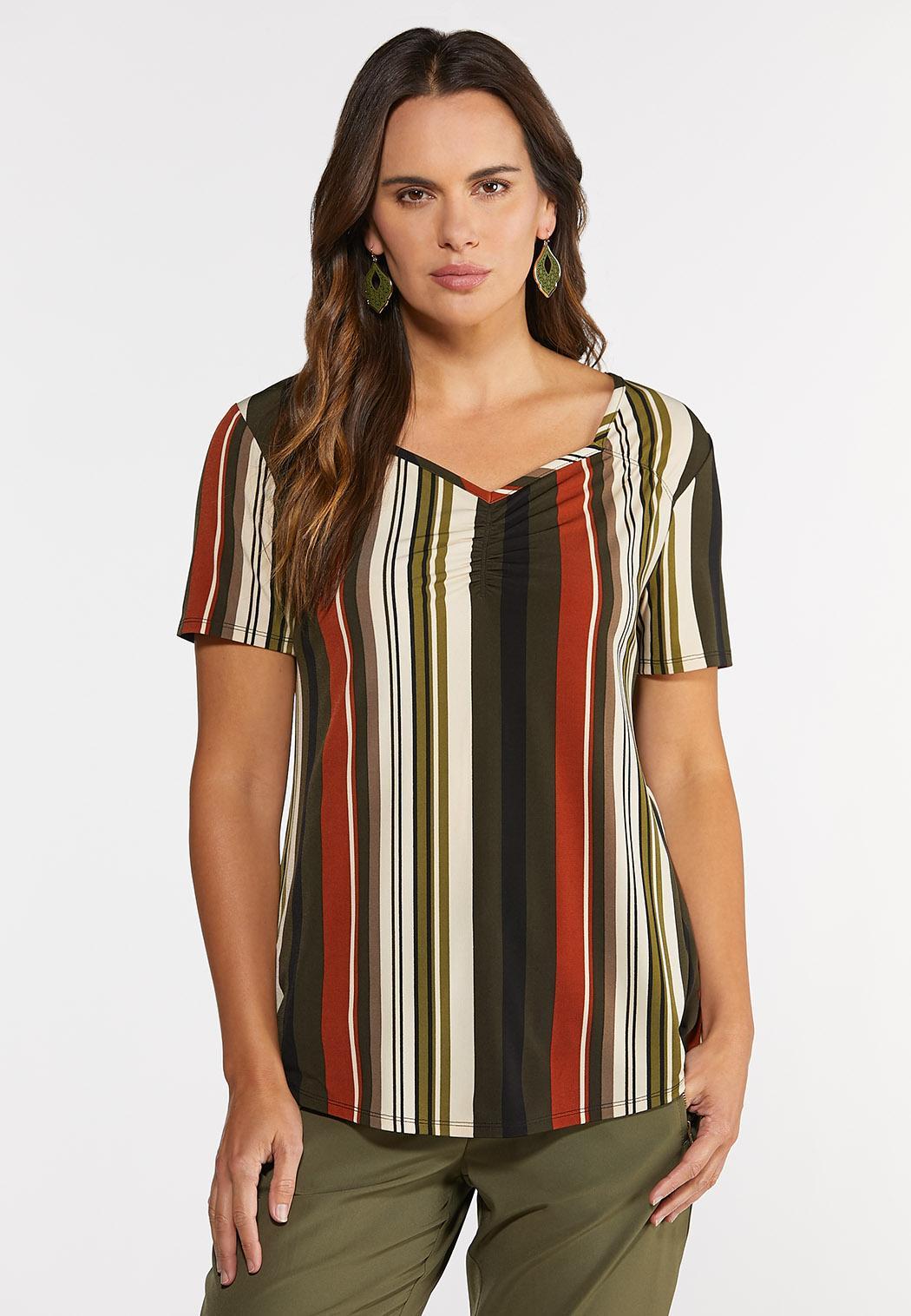 Plus Size Spicy Stripe Top