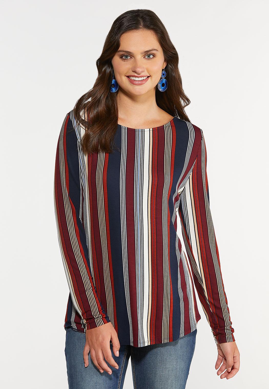 Berry Stripe Top