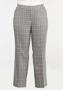 Plus Petite Plaid Trouser Pants